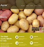 Agriculture Moto CMS HTML  Template 47730