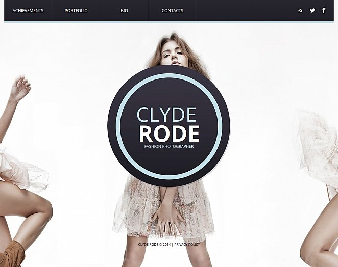 Photography Website Template with Circular Elements - image
