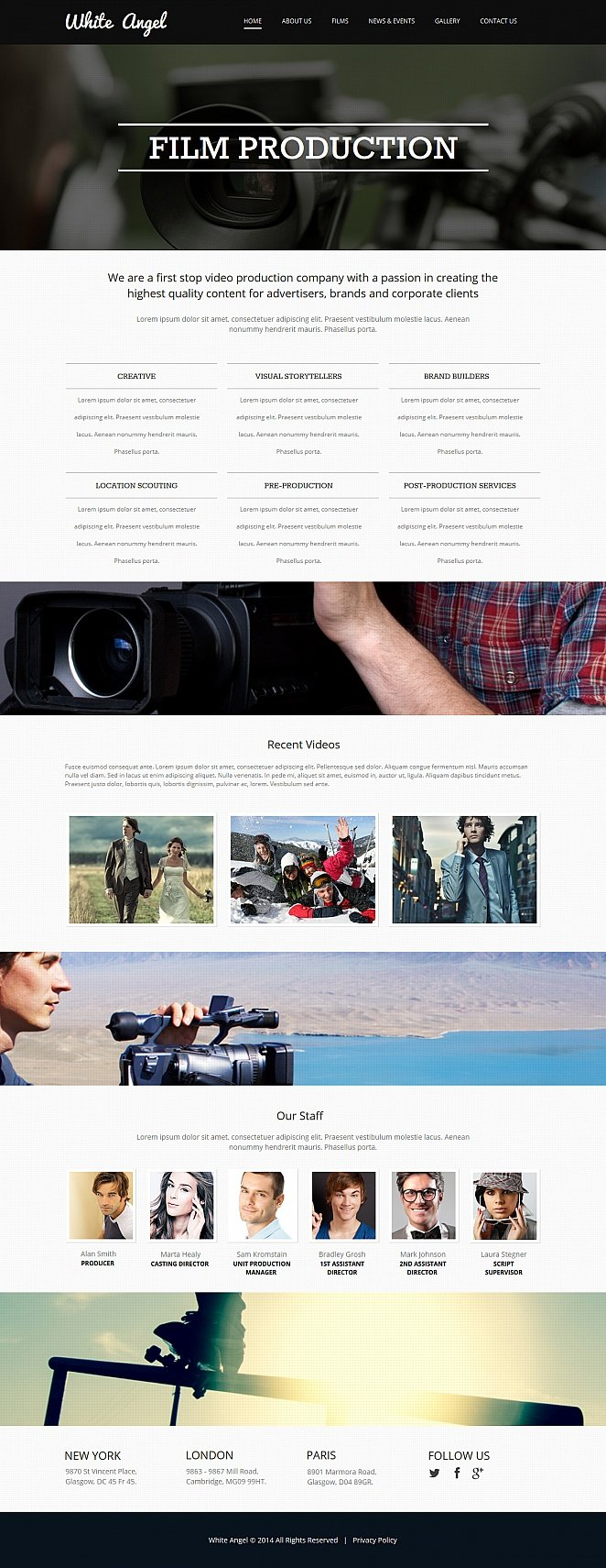 Film Production Website Template with Large Home Page Design | MotoCMS