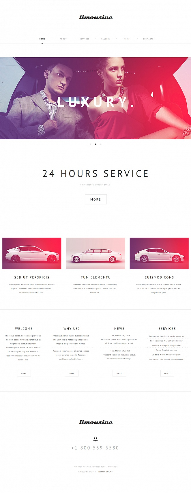 Limousine Services Website Template in Vintage Style - image