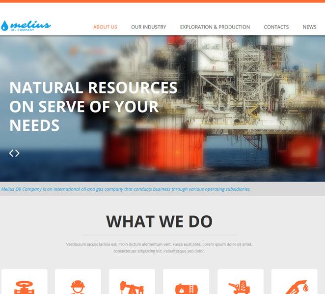 Moto CMS HTML Vorlage für Öl und Gas  New Screenshots BIG
