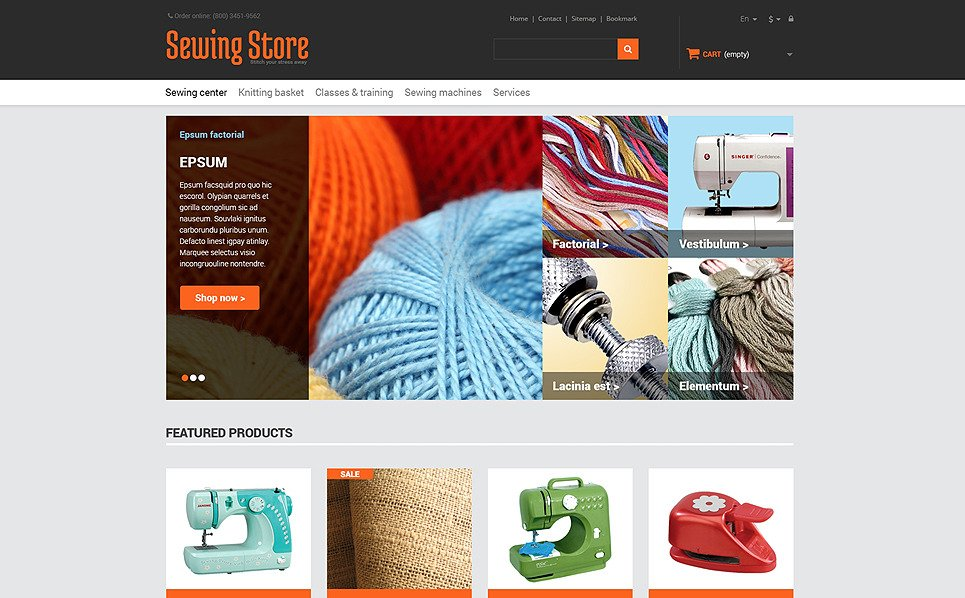 Tema PrestaShop Responsive #47745 per Un Sito di Hobby New Screenshots BIG
