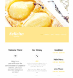 Cafe & Restaurant Website  Template 47750