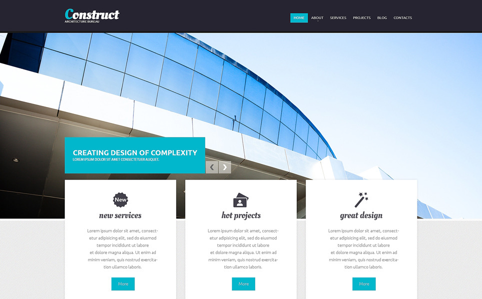 Responsive Drupal Template over Architectuur New Screenshots BIG