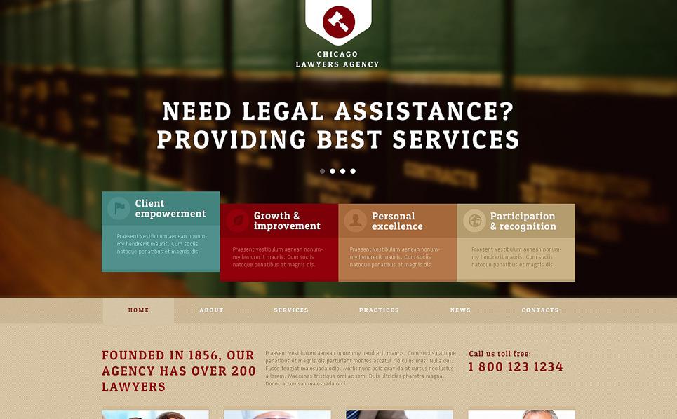 Responzivní Joomla šablona na téma Právnická společnost New Screenshots BIG