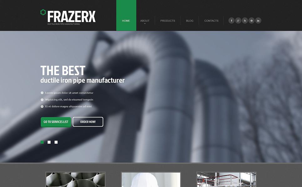 Template Web Flexível para Sites de Industrial №47764 New Screenshots BIG