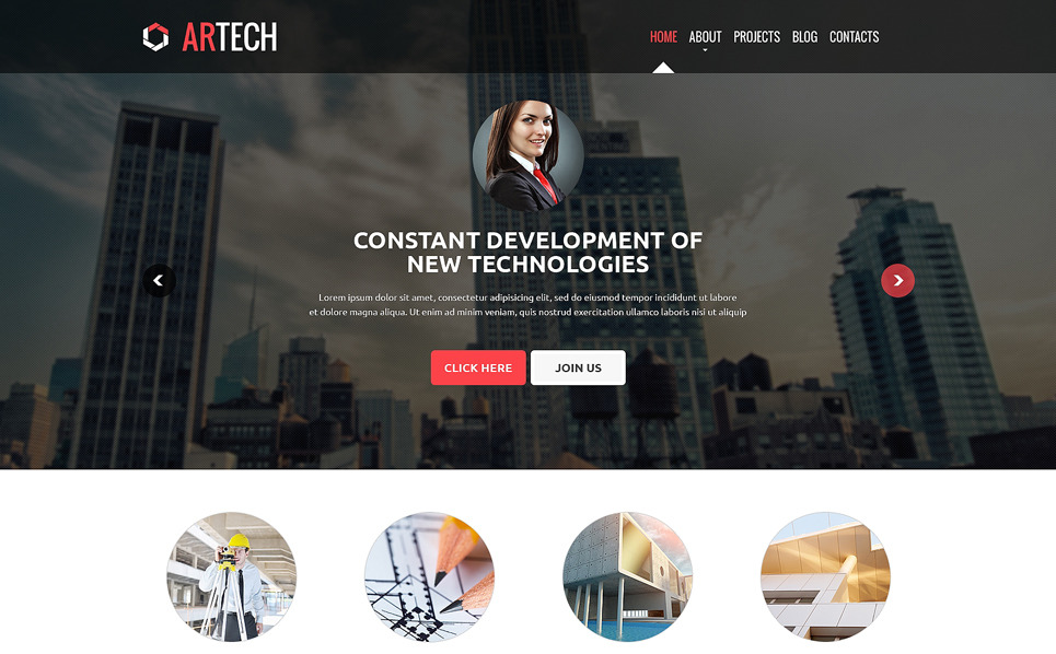 Modèle Web adaptatif  pour entreprise de construction New Screenshots BIG