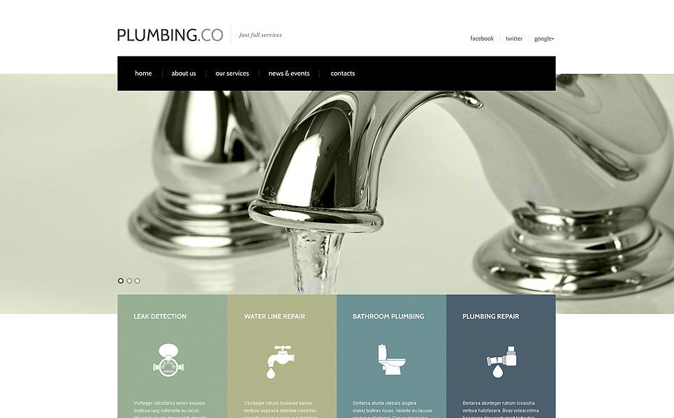 Responsive Website template over Loodgieterij  New Screenshots BIG