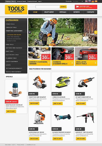 osCommerce Template 47779 Main Page Screenshot