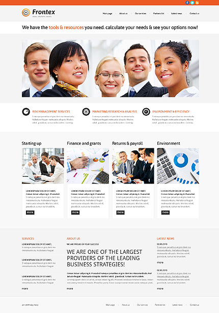 WordPress Theme/Template 47783 Main Page Screenshot