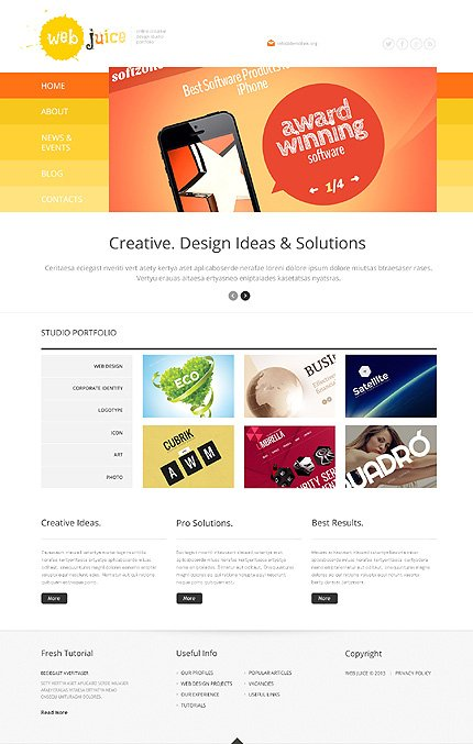 WordPress Theme/Template 47787 Main Page Screenshot