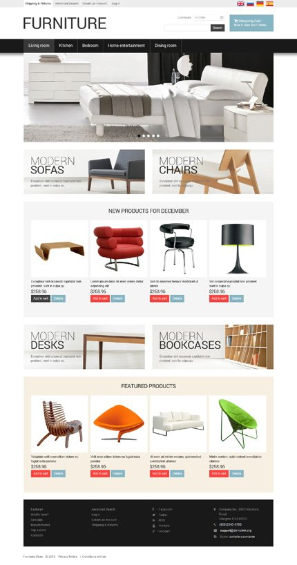 osCommerce Template 47798 Main Page Screenshot