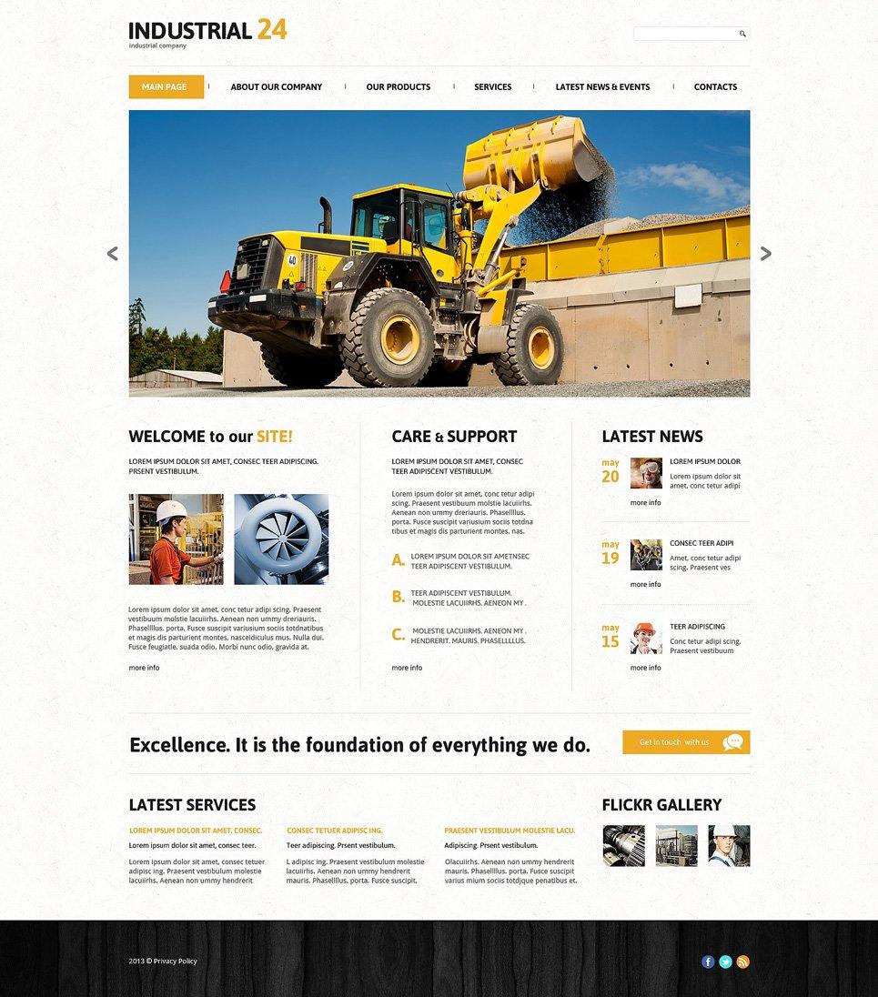 Адаптивный шаблон сайта на тему промышленность #47711