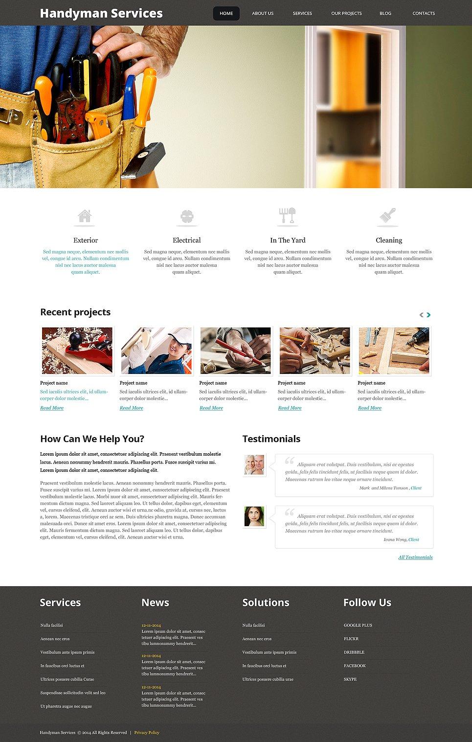 Адаптивный шаблон сайта на тему техническое обслуживание #47782