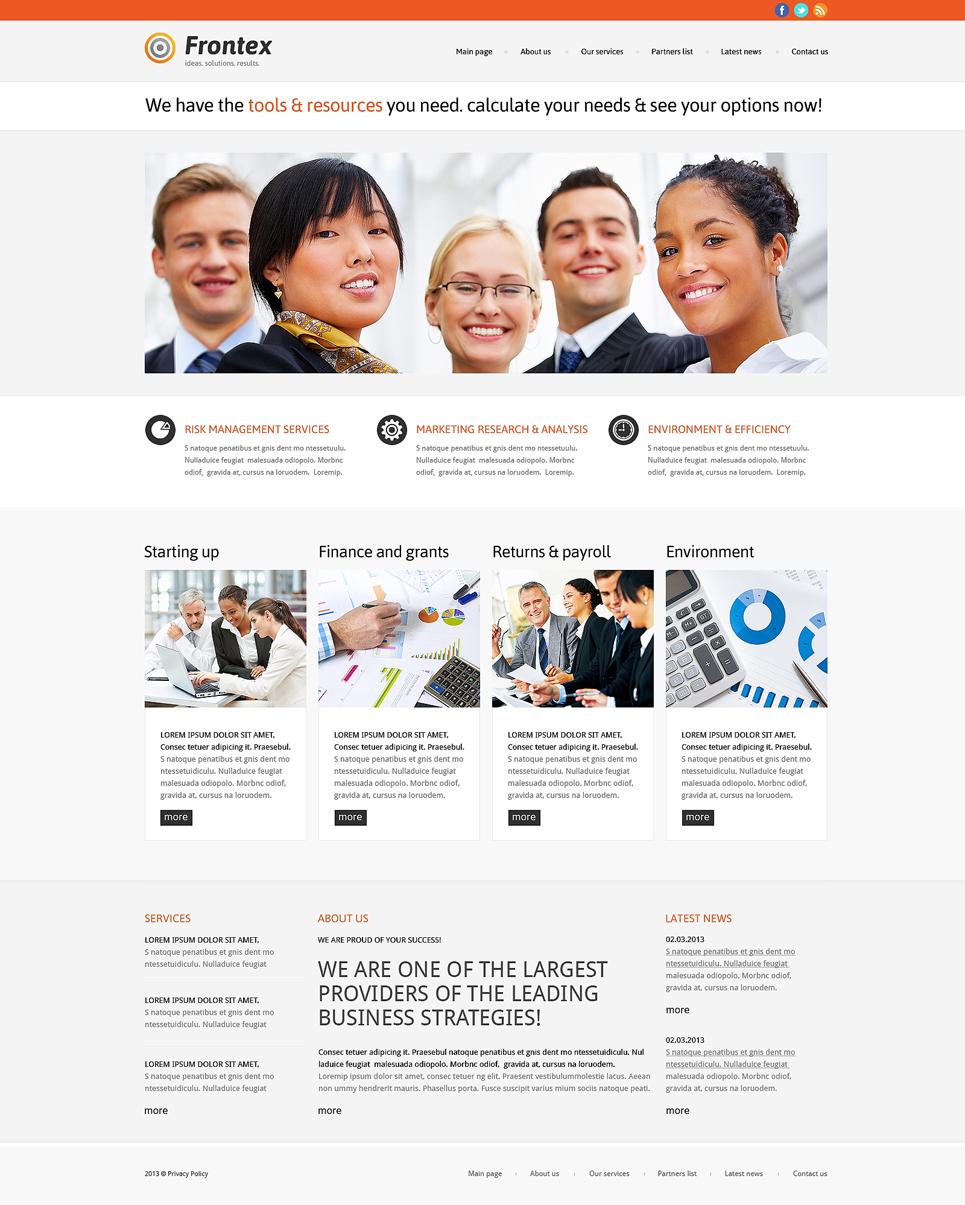 Адаптивный шаблон сайта на тему бизнес и услуги #47783
