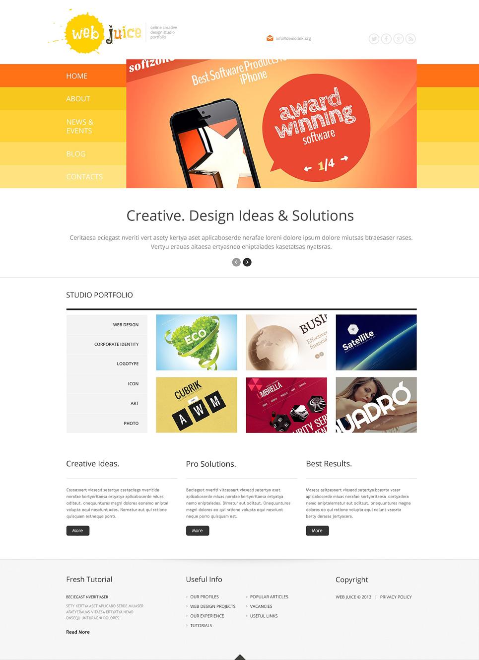 Адаптивный шаблон сайта на тему веб-дизайн #47787