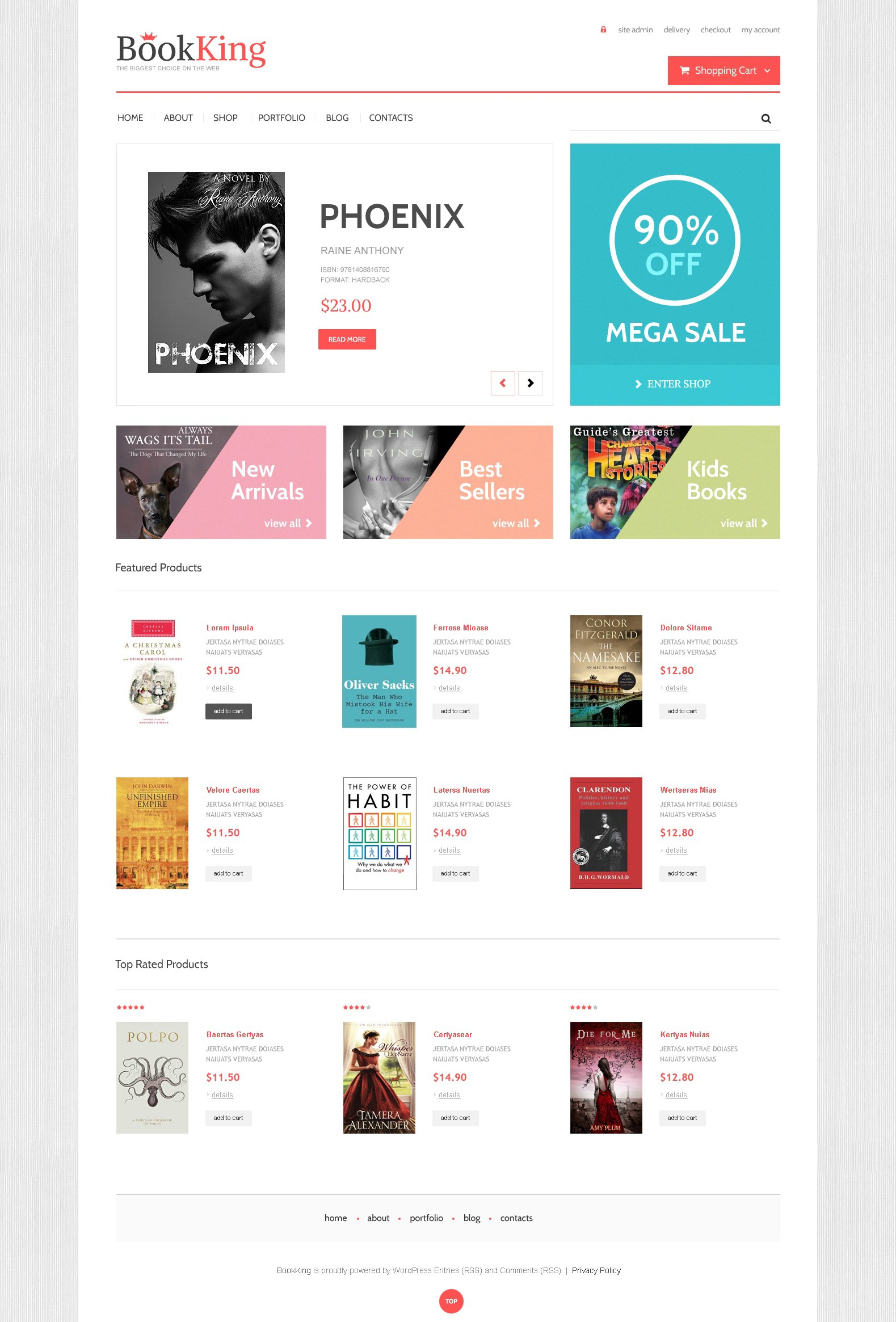 BookKing WooCommerce Theme - screenshot