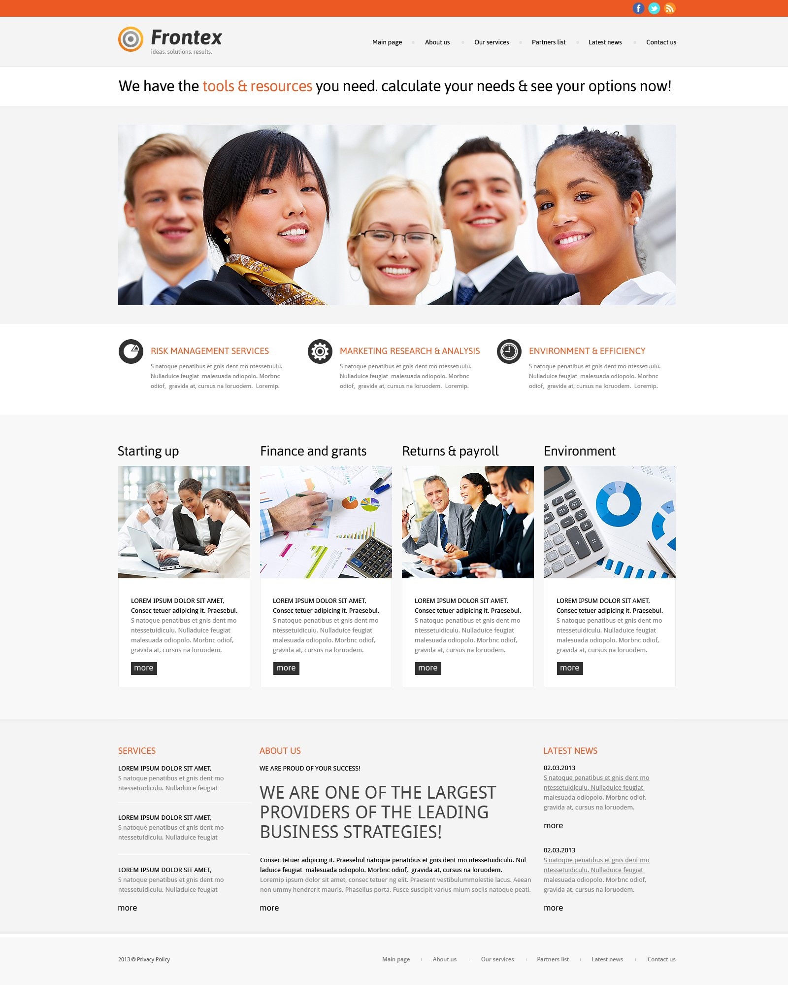 Business & Services Responsive WordPress Theme - screenshot