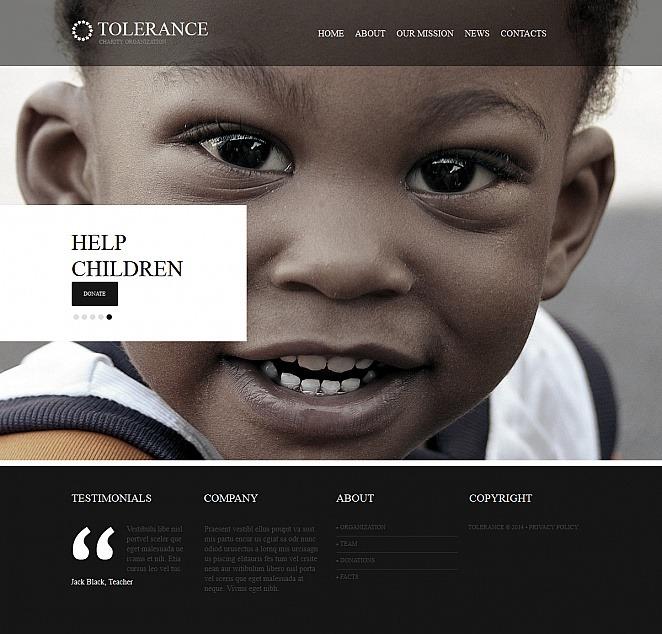 Child Charity Moto CMS HTML Template New Screenshots BIG