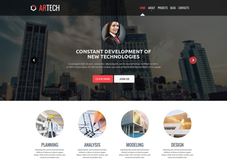 Construction Company Responsive