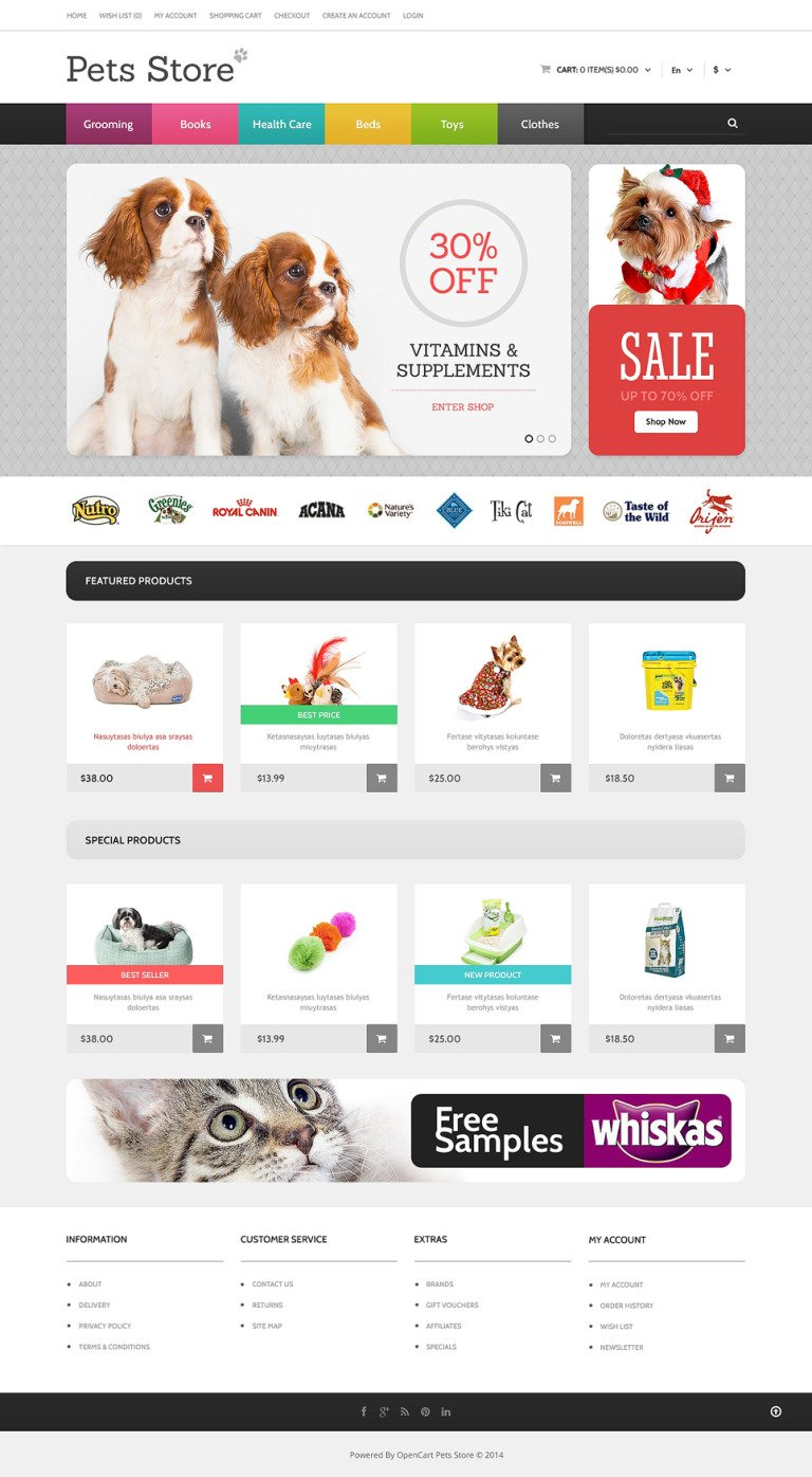 Dog Responsive OpenCart Template New Screenshots BIG