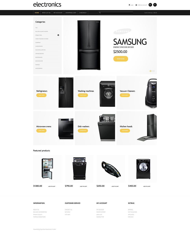 Electronics Store Responsive OpenCart Template New Screenshots BIG