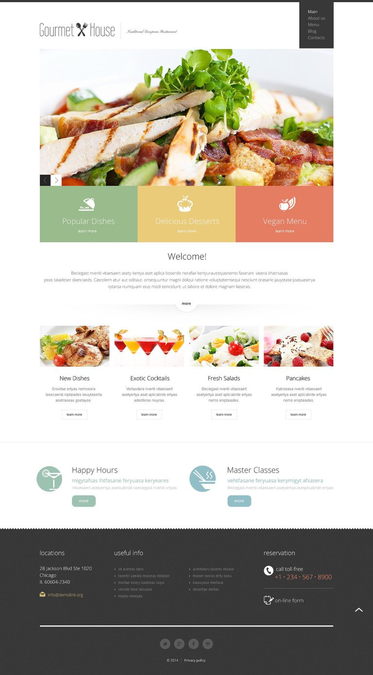 European Restaurant Responsive Joomla Template New Screenshots BIG