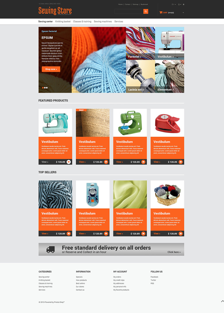 Everything for Sewing PrestaShop Theme New Screenshots BIG