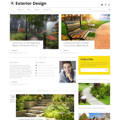 Exterior design wordpress themes for Exterior design templates