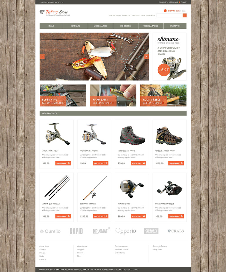 Fishing VirtueMart Template New Screenshots BIG