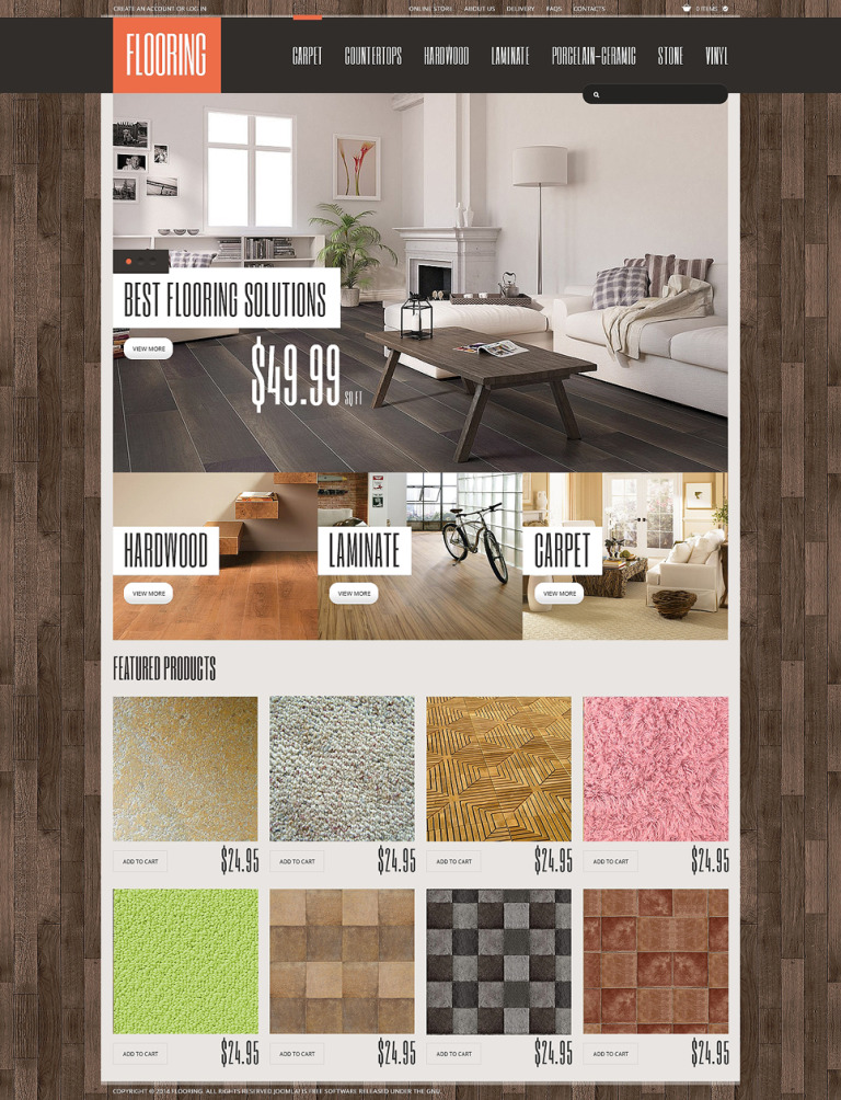 Flooring VirtueMart Template New Screenshots BIG