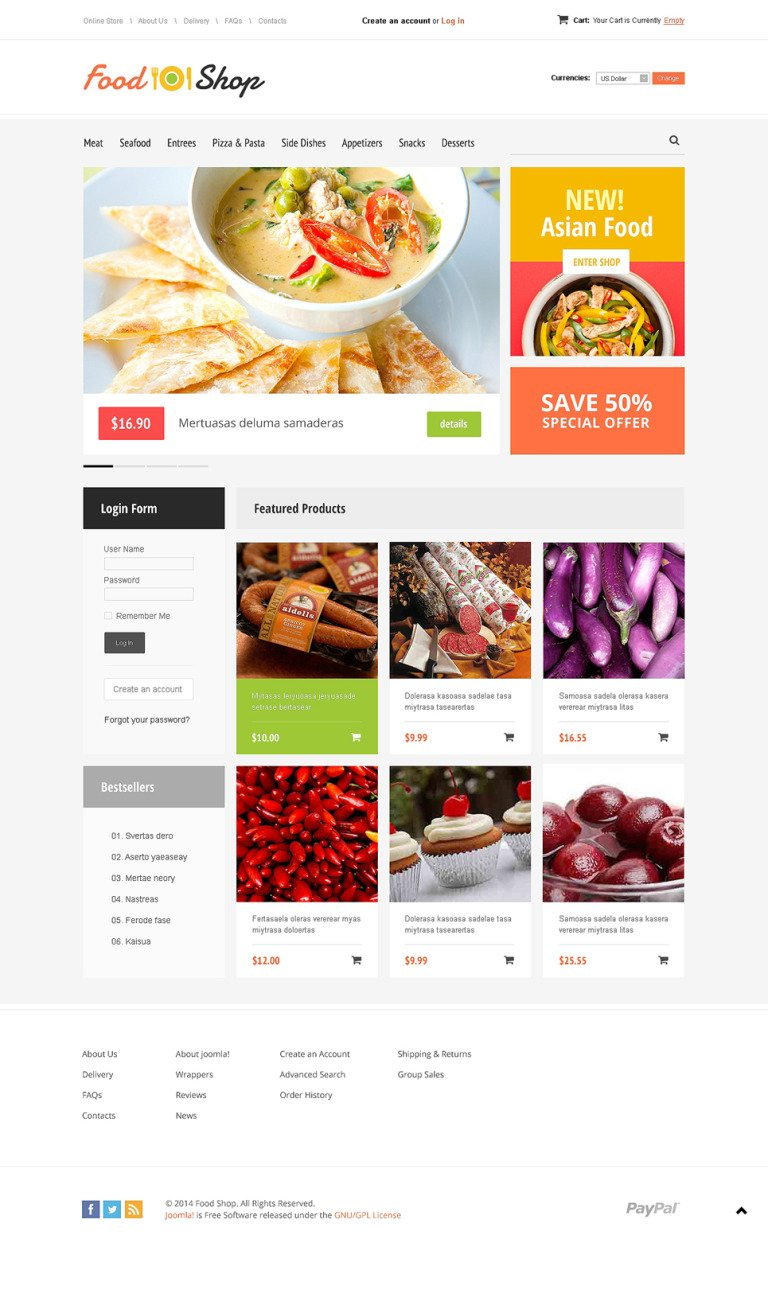 Food Store VirtueMart Template New Screenshots BIG