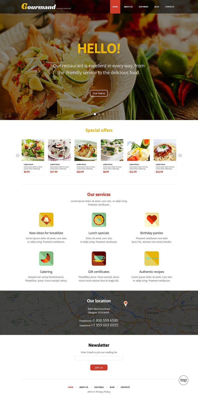 Gourmet Restaurant WordPress Theme New Screenshots BIG