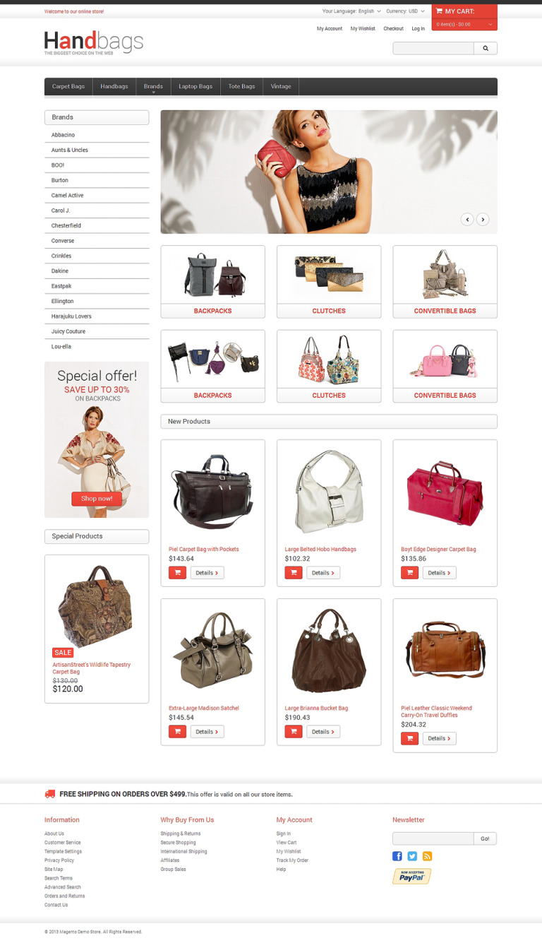 Handbag Responsive Magento Theme New Screenshots BIG