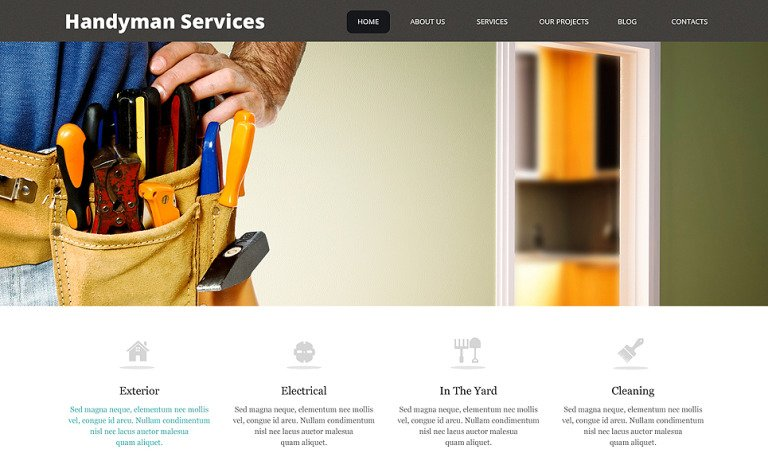 Impressive Handyman Services WordPress Theme
