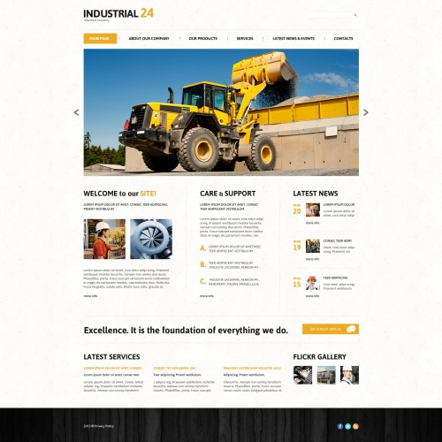 Industrial24 - WordPress Template based on Bootstrap