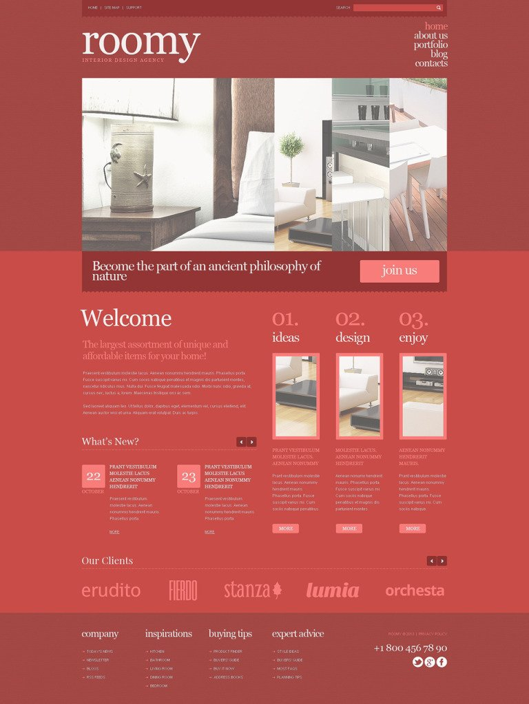 Interior Design Responsive WordPress Theme New Screenshots BIG