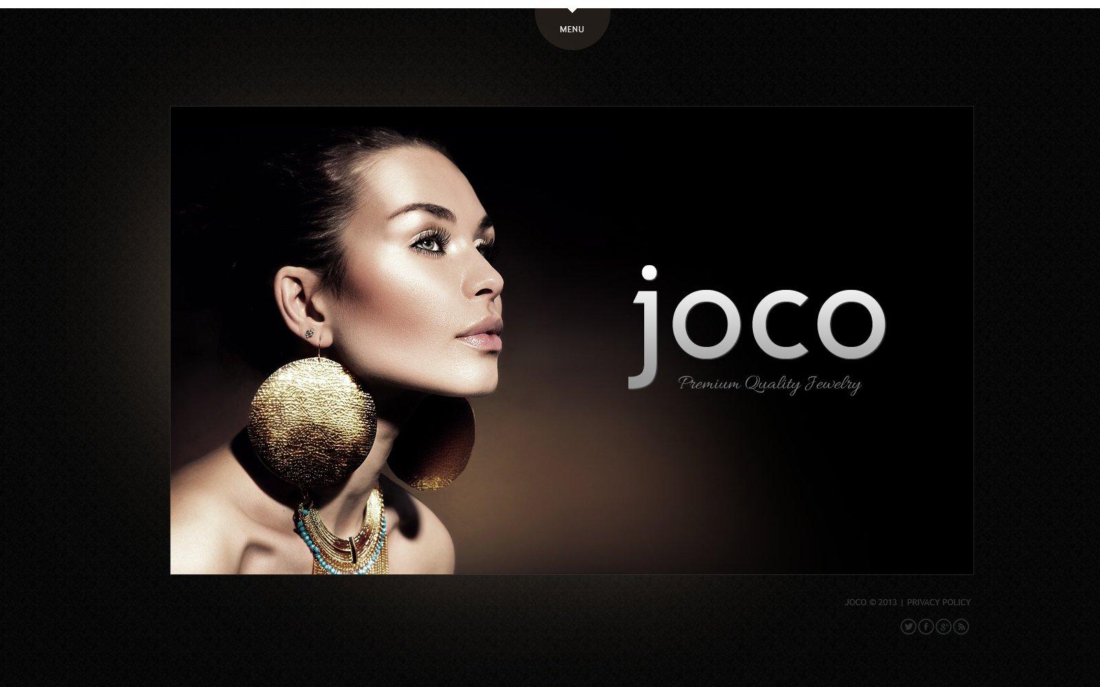jewelry website template  47763