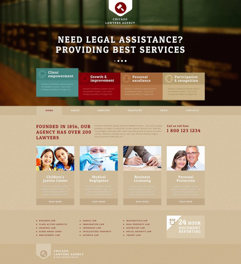 Lawyers Agency Joomla Template New Screenshots BIG