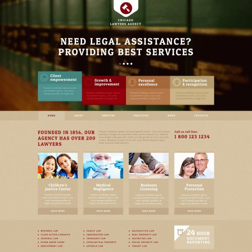 Chicago Lawyers Agency - Joomla! Template based on Bootstrap