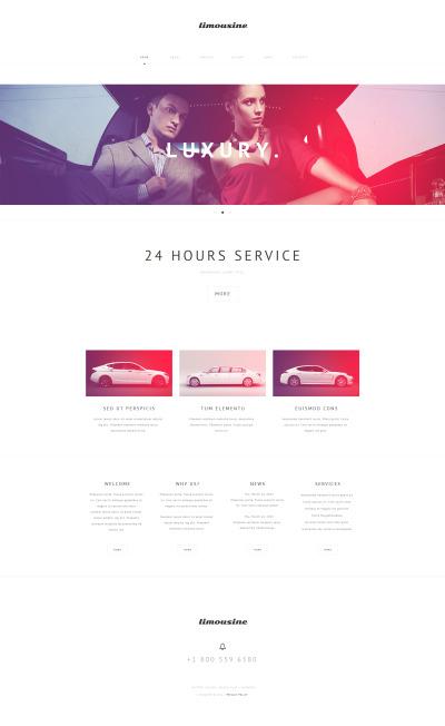 Limousine Services Moto CMS HTML šablona