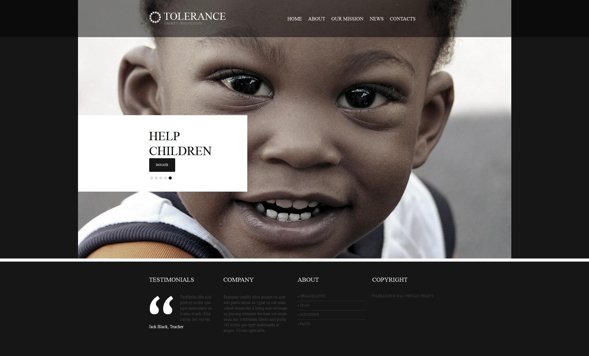 Modèle Moto CMS HTML Premium pour site de charité pour enfants #47729