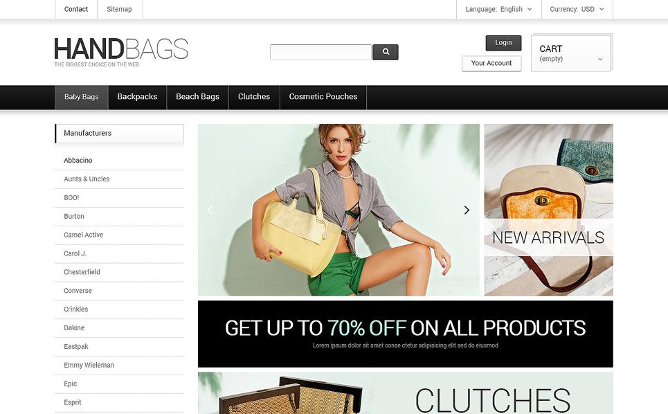 Modello PrestaShop Responsive #47744 per Un Sito di Borse New Screenshots BIG