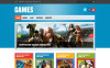 "Modello WordPress Responsive #47780 ""Game Reviews"" New Screenshots BIG"