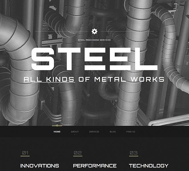 Moto CMS HTML Vorlage für Stahlwerk  New Screenshots BIG