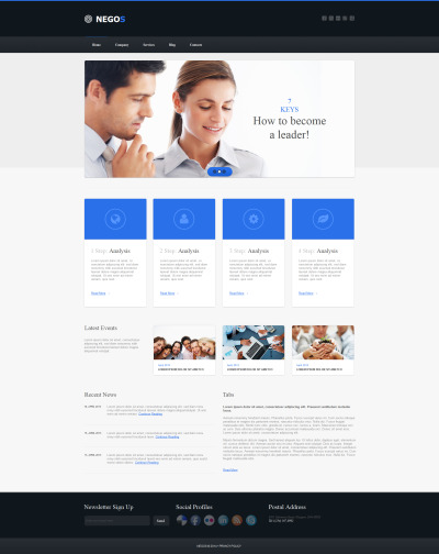 MotoCMS HTML шаблон №47723 на тему аутсорсинговая компания
