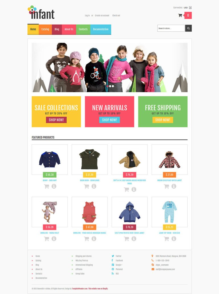 Newborn Responsive Shopify Theme New Screenshots BIG
