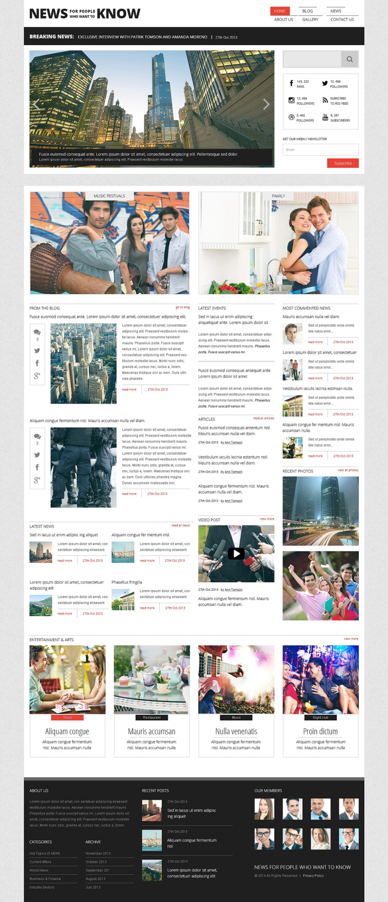News Portal Responsive WordPress Theme New Screenshots BIG