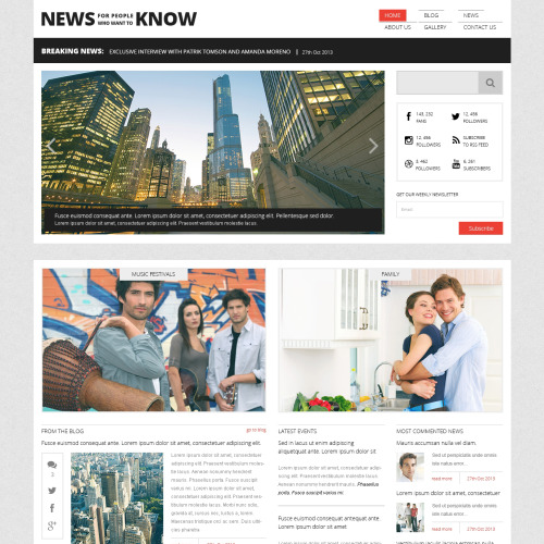 News Portal - WordPress Template based on Bootstrap