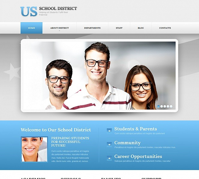 Plantilla Moto CMS HTML #47738 para Sitio de Universidad New Screenshots BIG